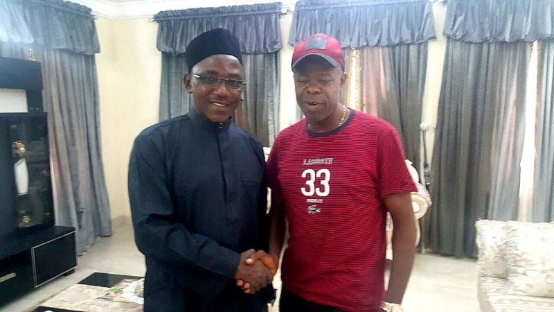 Sports Minister Dalung and Friday Kujah