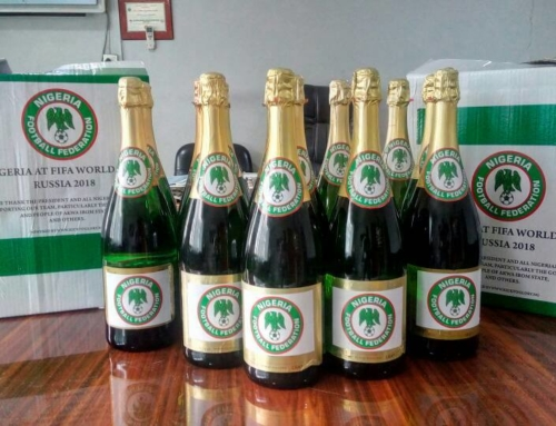 Kick To Glory Prepares NFF Branded Champagne