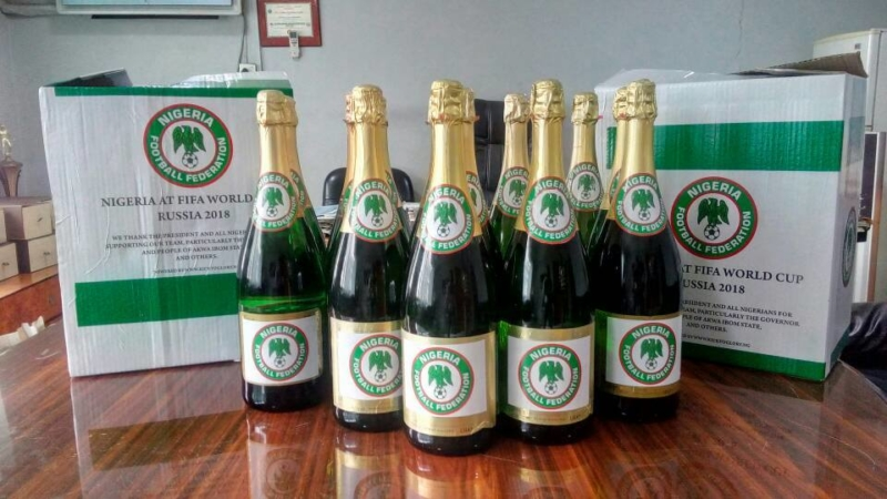 NFF branded champagne by Kick To Glory